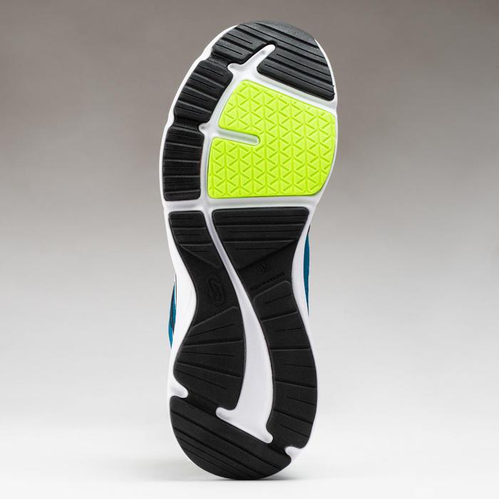 兒童款鞋帶式運動鞋Run Support - 灰色/汽油藍