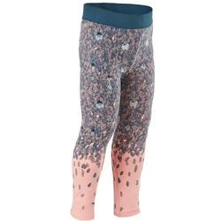 Legging voor kleutergym meisjes 100 roze/print