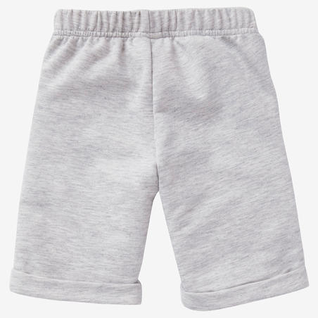 Celana Pendek Senam Bayi 500 - Abu-abu