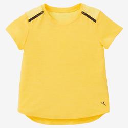 T-shirt 500 Baby Gym fille et garçon Jaune