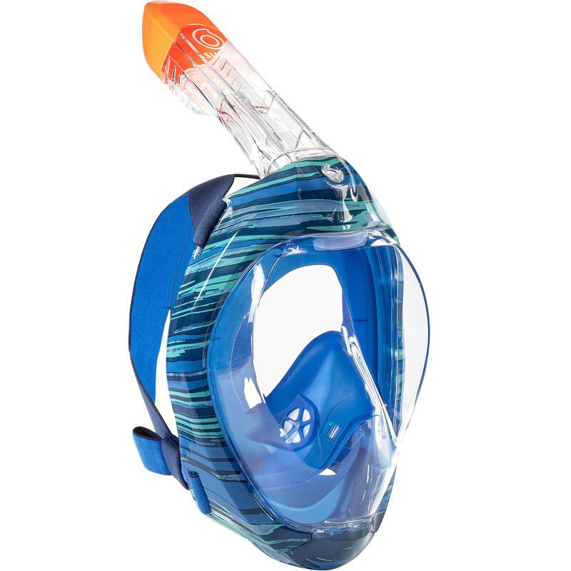 Mască Easybreath Snorkeling la Suprafață 500 Sweel Albastru