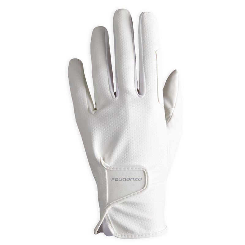 Women's Horse Riding Gloves 500 - White