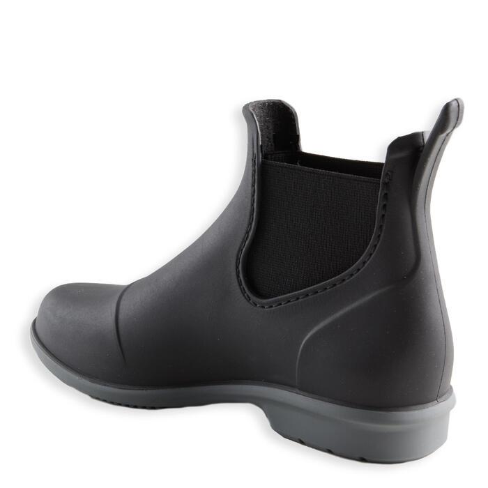 Boots voor kinderen ruitersport 100 zwart/grijs
