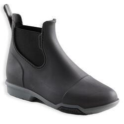 Kids' Horse Riding Boots 100 - Black/Grey