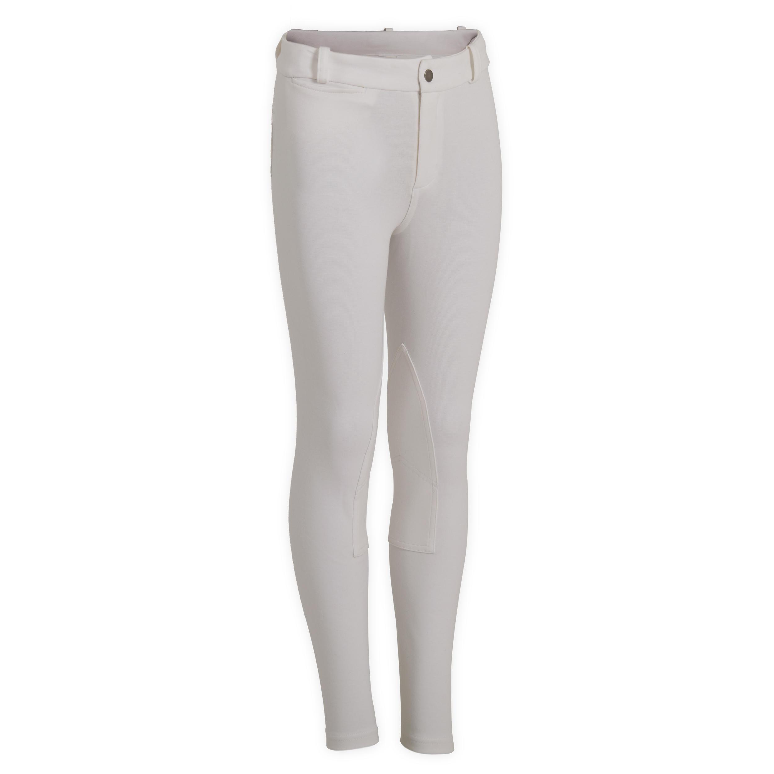 Pantalon 100 alb copii