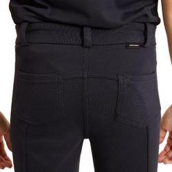 Pantalon équitation enfant 140 bleu marine