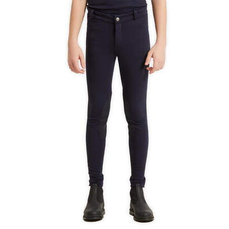 Kids' Horse Riding Jodhpurs 140 - Navy Blue