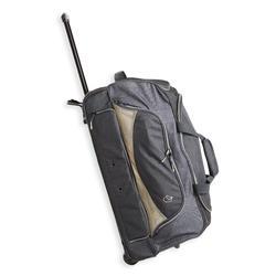 Tas op wieltjes voor ruitersportmateriaal trolley 80 l grijs en linnen