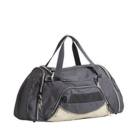 Horse Riding Equipment Duffle Bag 55 Litres - Grey/Beige