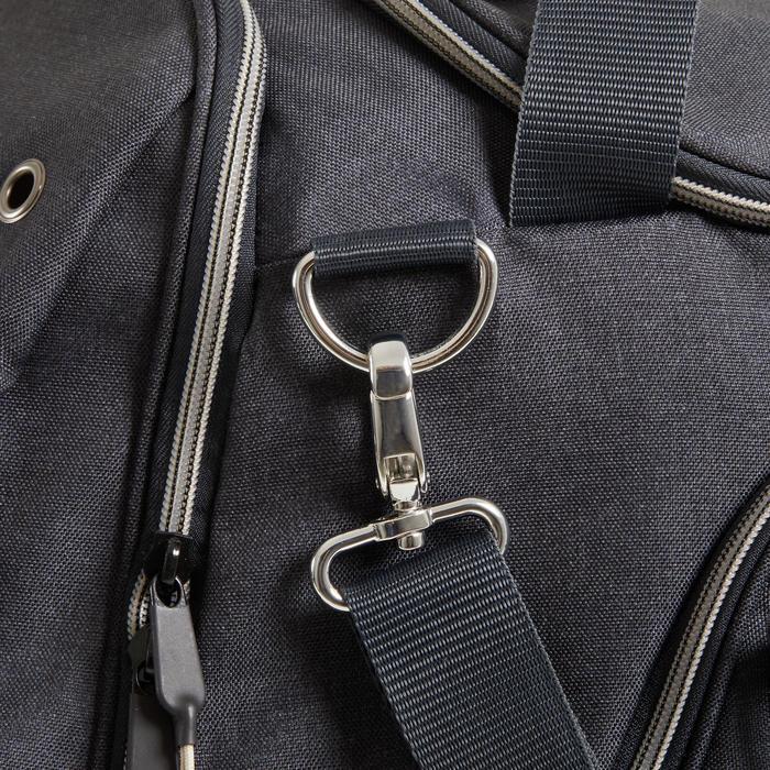 Duffeltas voor paardrijmateriaal 55 l grijs en beige