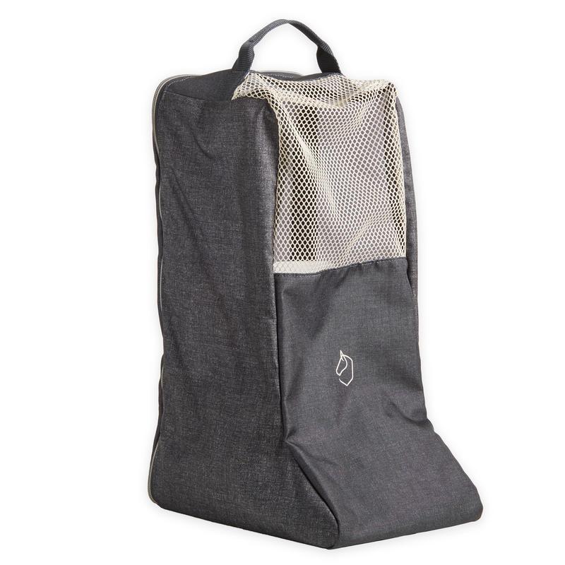 Pieaugušo un bērnu jāšanas zābaku soma, pelēka