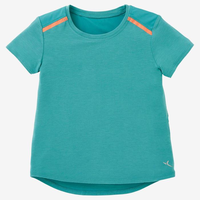 T-shirt 500 Baby Gym fille et garçon Turquoise