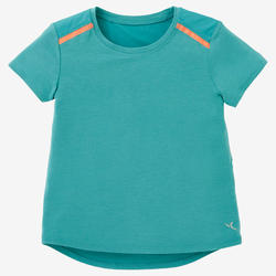 T-shirt voor kleutergym 500 turquoise