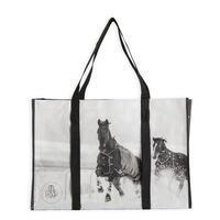 Didelis krepšys žirgų priežiūros priemonėms susidėti