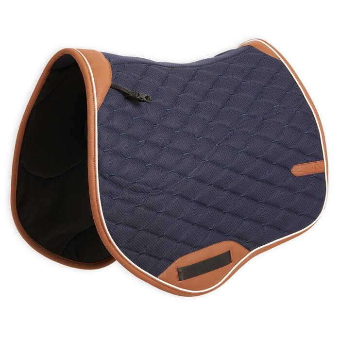 Zadeldek ruitersport paarden 900 Jump marineblauw/bruin