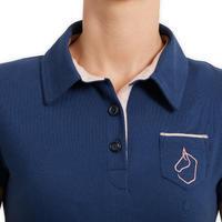 Women's Horse Riding Short-Sleeved Polo Shirt 140 - Blue