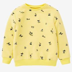 Sweater voor kleutergym 100 geel/print