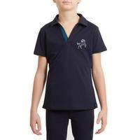 Vaikiški tinkliniai trumparankoviai polo marškinėliai jojimui 500