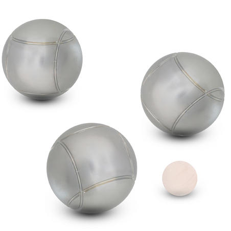 Grooved Recreational Petanque Boules 100 Tri-Pack