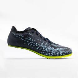 Spikes Leichtathletikschuhe AT SPRINT für Sprints blau/gelb