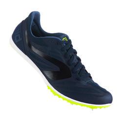 Scarpe chiodate atletica AT MID azzurro-nero-giallo