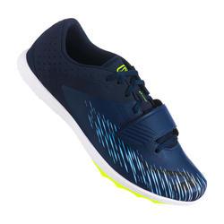 Scarpe chiodate atletica AT JUMP azzurro-giallo