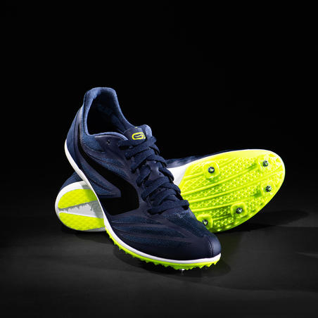 AT MID MIDDLE-DISTANCE ATHLETICS SHOES WITH SPIKES - BLUE/BLACK/YELLOW