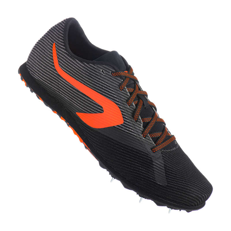 ATHLETICS SHOES OR ACCESSORIES Athletics - AT CROSS COUNTRY BLACK/ORANGE KALENJI - Sports