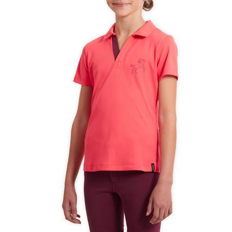 Дитяче поло 500 для кінного спорту, з сіточкою - Рожеве