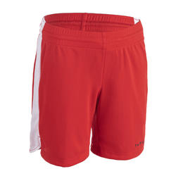 Girls'/Boys' Intermediate Basketball Shorts SH500 - Red/White
