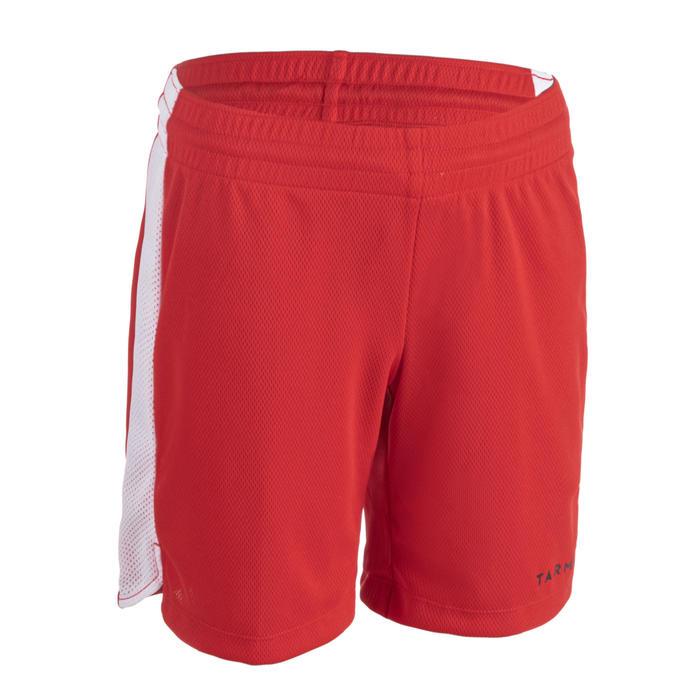男女兒童款中階籃球短褲SH500-紅白配色
