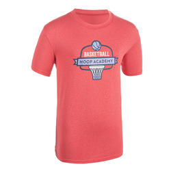Boys'/Girls' Intermediate Basketball T-Shirt TS500 - Pink