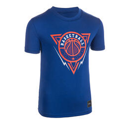 Boys'/Girls' Intermediate Basketball T-Shirt TS500 - Blue
