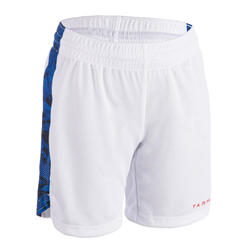 兒童款中階籃球短褲SH500 - 藍白配色