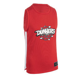 Boys'/Girls' Intermediate Basketball Jersey T500 - Red/White
