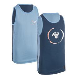 Basketbalshirt voor jongens/meisjes van gevorderd niveau T500R marineblauw/blauw