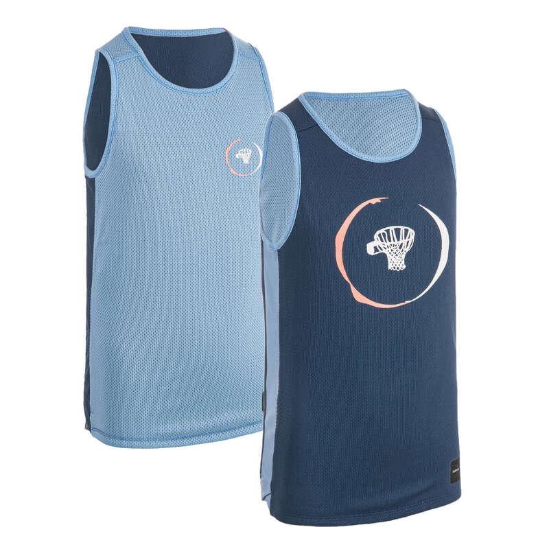 ABBIGLIAMENTO BASKET JUNIOR Sport di squadra - Canotta basket jr T500R blu TARMAK - Abbigliamento Basket