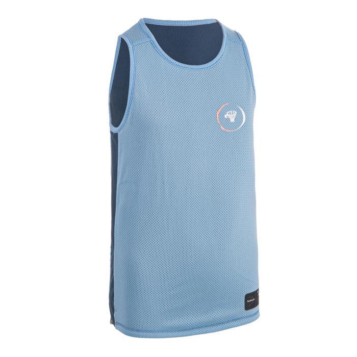 MAILLOT DE BASKETBALL REVERSIBLE GARCON/FILLE CONFIRME(E) BLEU BLEU T500R
