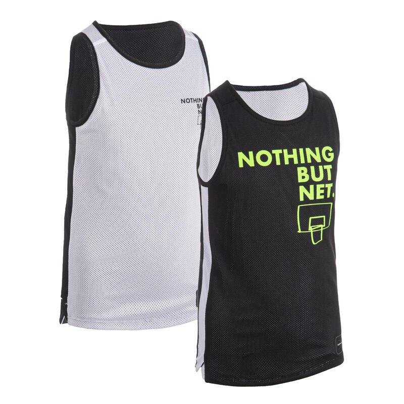 Dětský basketbalový oboustranný dres T500R černo-bílý Noth