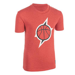 T-SHIRT DE BASKETBALL POUR GARCON/FILLE CONFIRME(E) ROUGE TS500