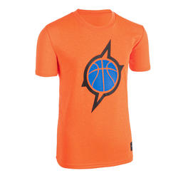 Boys'/Girls' Intermediate Basketball T-Shirt TS500 - Orange