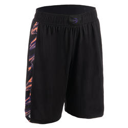SH500 Women's Basketball Shorts - Black/Pink