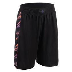 女款籃球短褲 SH500-黑色/粉紅色