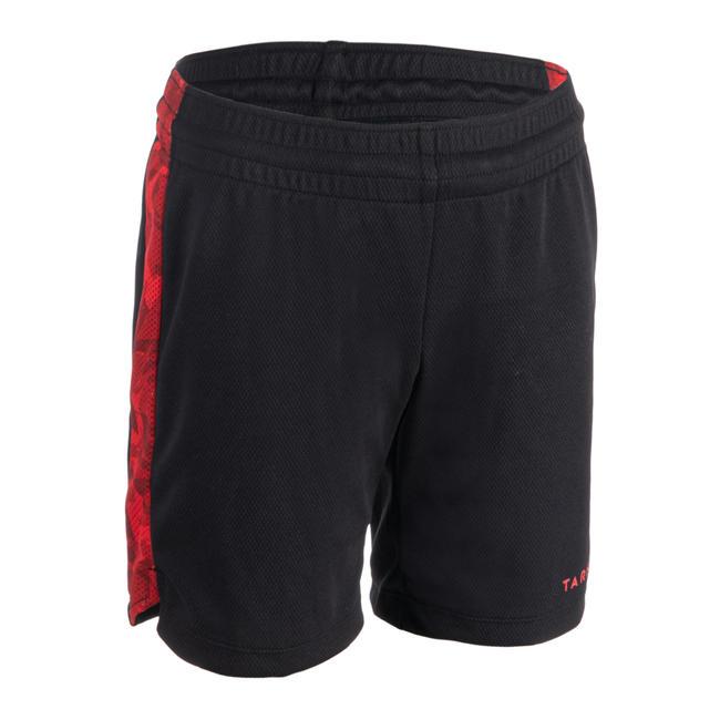 SH500 Boys'/Girls' Basketball Shorts For Intermediate Players - Black/Red