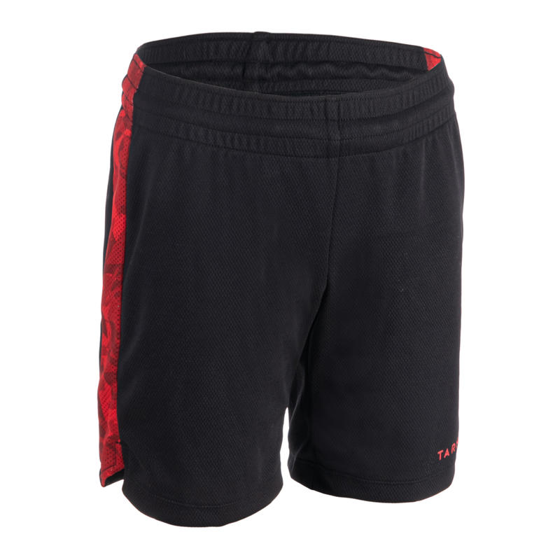 SH500 Boys'/Girls' Basketball Shorts For Intermediate Players - Black/Red