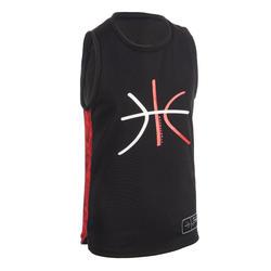 Kids' Jersey Intermediate Basketball T500 - Black/Red