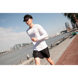 T-SHIRT RUNNING ANTI UV HOMME - BLANC