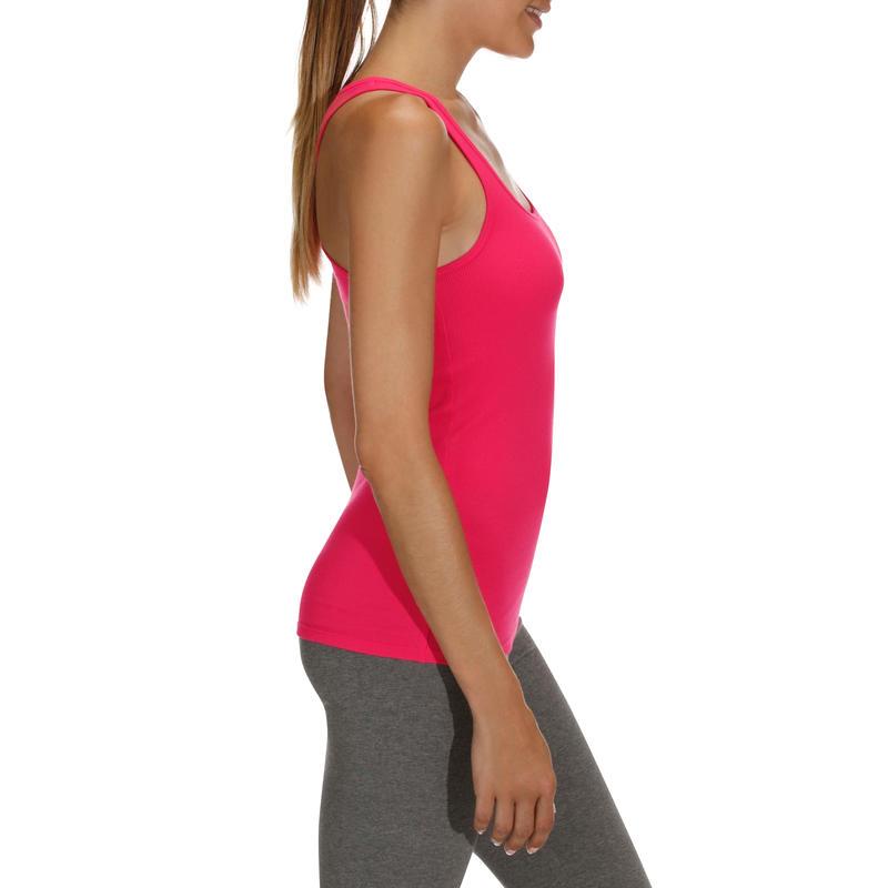 Débardeur 500 Gym & Pilates femme rose