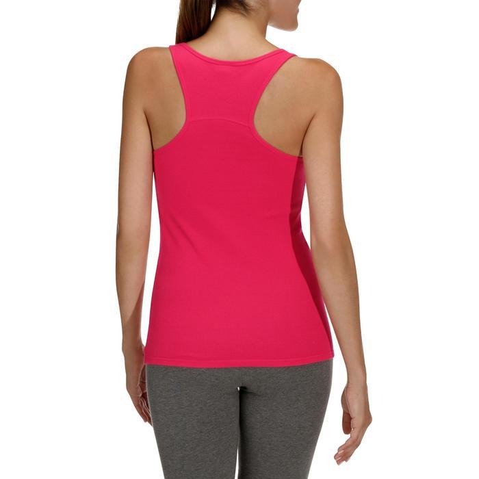Camiseta sin mangas 500 gimnasia y pilates mujer rosa