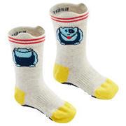 Non-Slip Socks 600 - Mottled Grey/Yellow